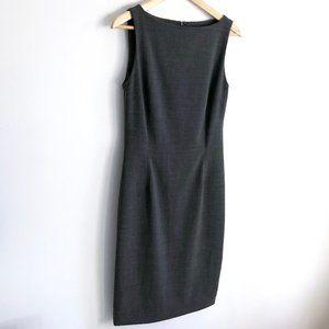 THEORY Sheath Midi Dress Gray Boat Neck Size 10